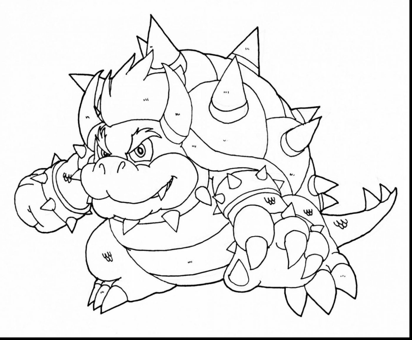 1400x1156 Coloring Pages Bowser Page Free To Print Jr Printable Pictures Hd
