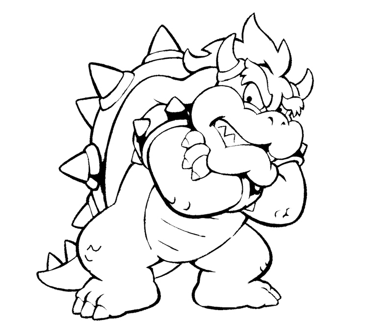 Dry Bowser Coloring Page at GetDrawings | Free download