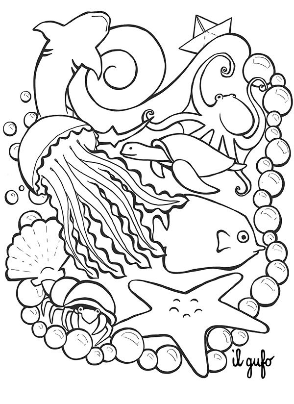 600x824 Illustration For Il Gufo Store Opening In Dubai Adult Coloring