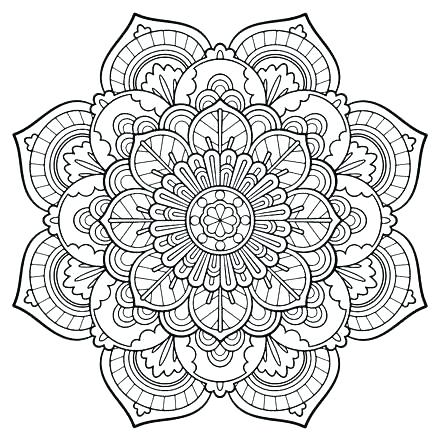 440x440 Mandala Coloring Pages For Adults Printable