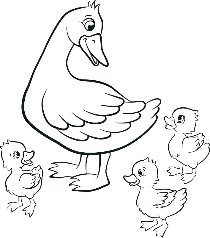 707x800 Duckling Coloring Pages Cute Duck Coloring Pages Baby Duck