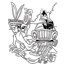 230x230 Top Daffy Duck Coloring Pages For Kids