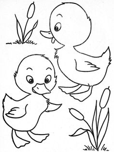 236x313 Cute Baby Duck Coloring Pages
