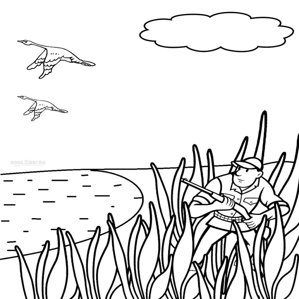 1024x1024 Duck Hunting Coloring Pages With Tgm Sports Regarding Duck