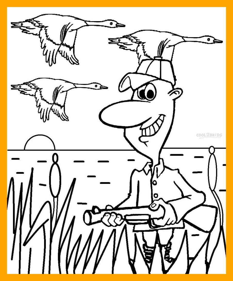 904x1088 Inspiring Duck Hunting Coloring Pages Image For To Print