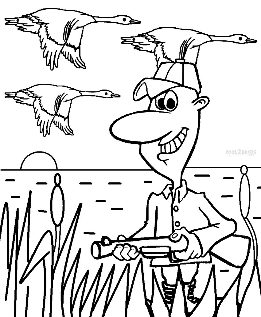 850x1034 Printable Hunting Coloring Pages For Kids