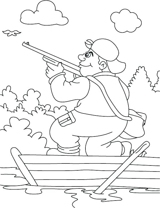 558x724 Bear Hunt Coloring Pages