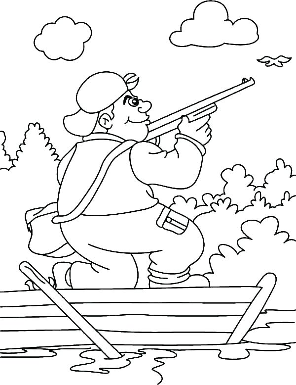 600x778 Deer Hunting Coloring Pages