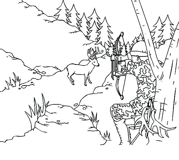 600x535 Deer Coloring Pages Epic Duck Hunting Coloring Pages Crayola Photo