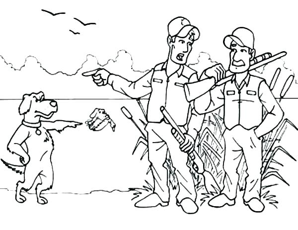 600x463 Deer Hunting Coloring Pages Duck Hunting Coloring Pages Hunting