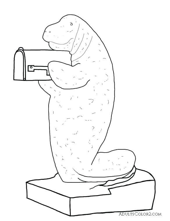 584x756 Dugong Animal Coloring Pages Manatee Coloring Pages Manatee