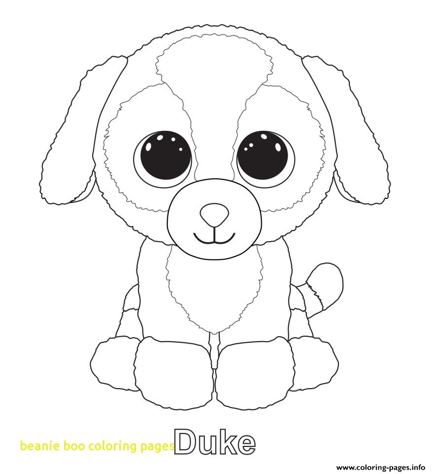 878x960 Beanie Boo Coloring Pages With Duke Beanie Boo Coloring Pages