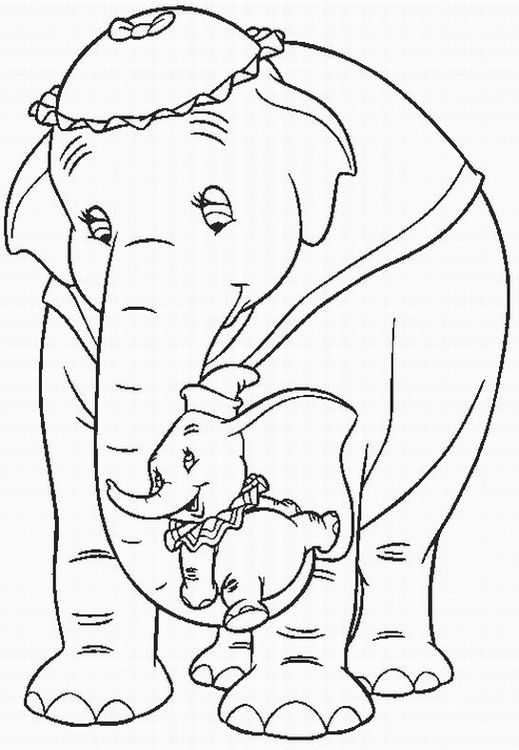519x750 Dumbo Coloring Pages Team Colors