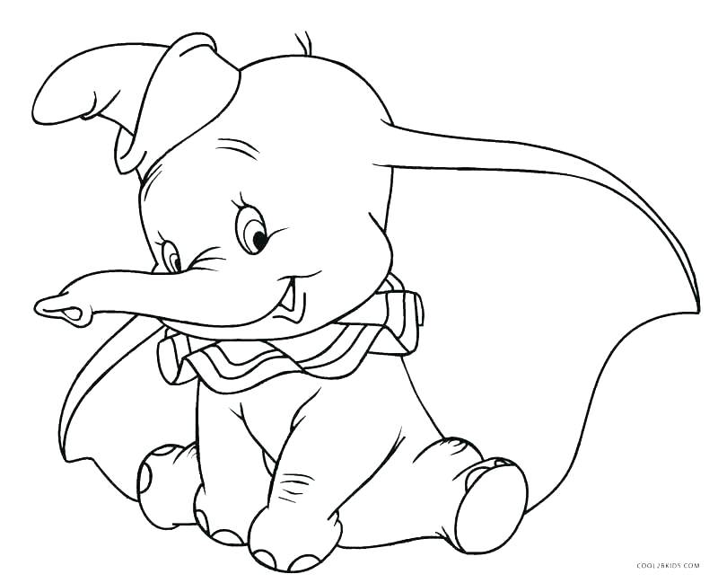 800x649 Dumbo Coloring Pages Complete Dumbo Coloring Pages Print Page