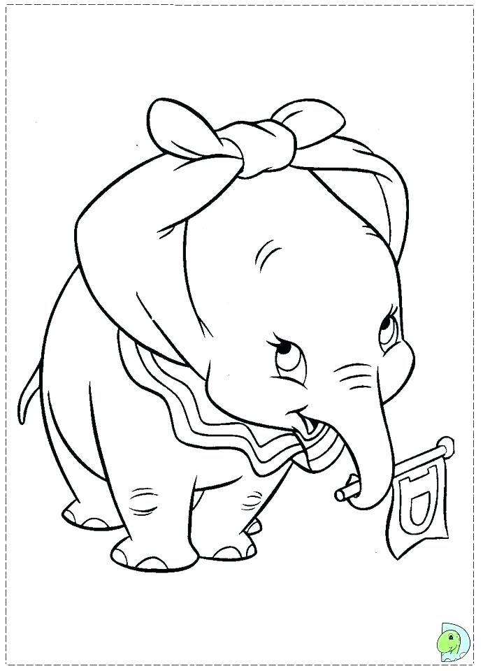 691x960 Dumbo Coloring Pages Images Baby