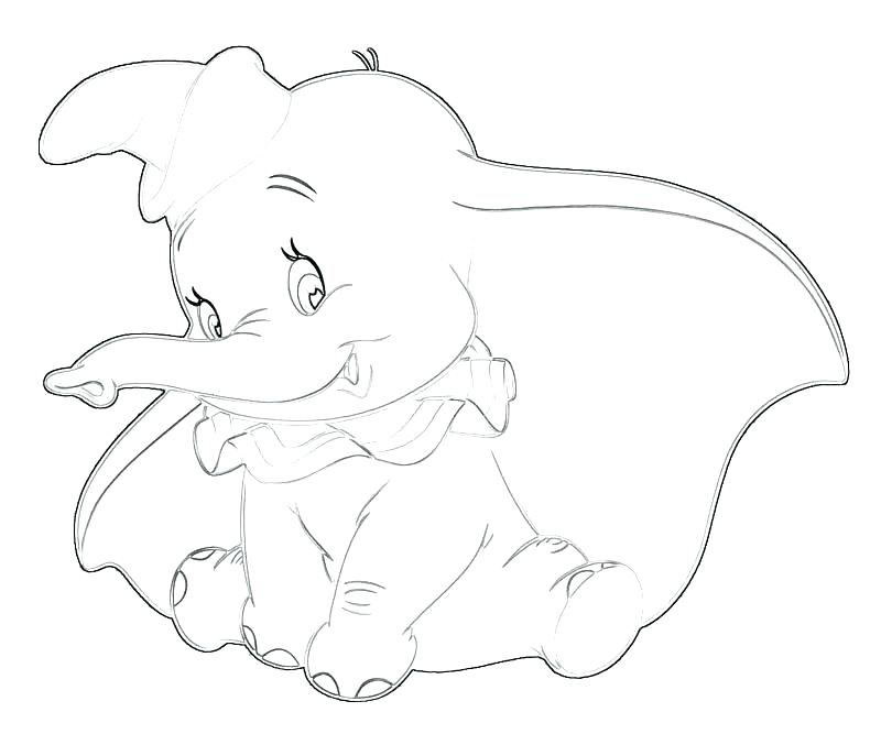 800x667 Dumbo Coloring Pages Online Dumb