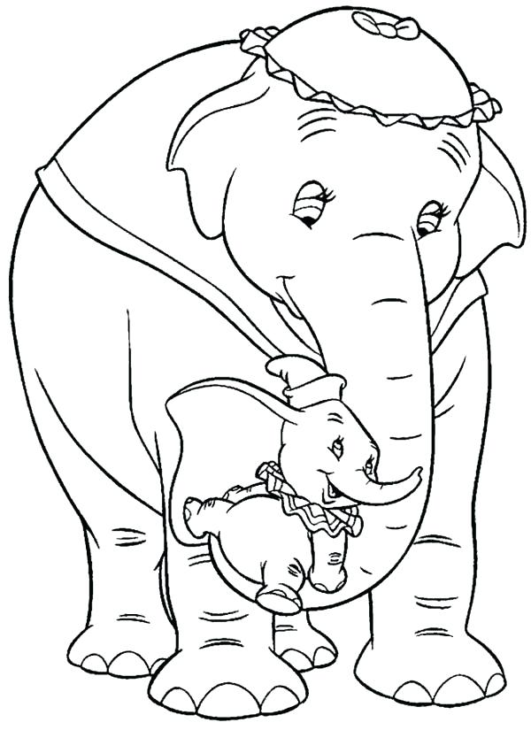 600x825 Elephant Color Pages Dumbo The Elephant Lift