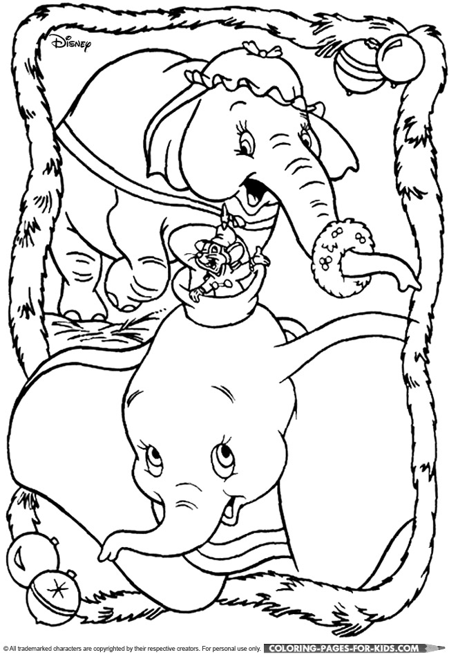 650x950 Disney Dumbo Coloring Pages