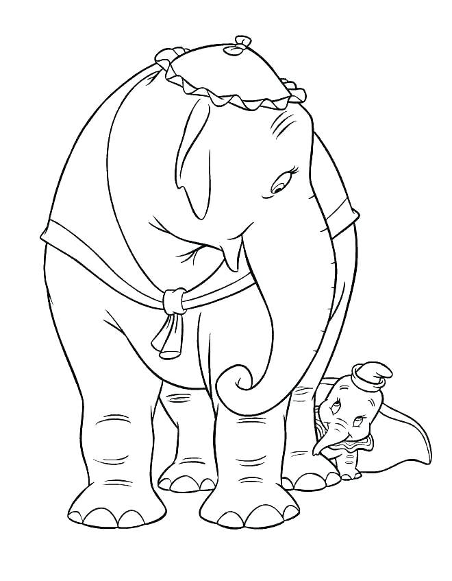 660x847 Dumbo Coloring Pages