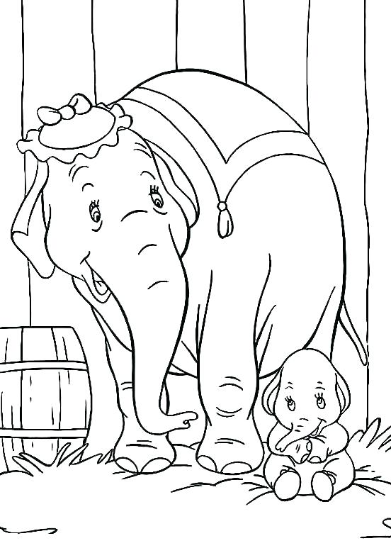 552x780 Dumbo Coloring Page Baby Dumbo Coloring Pages Printable Dumbo