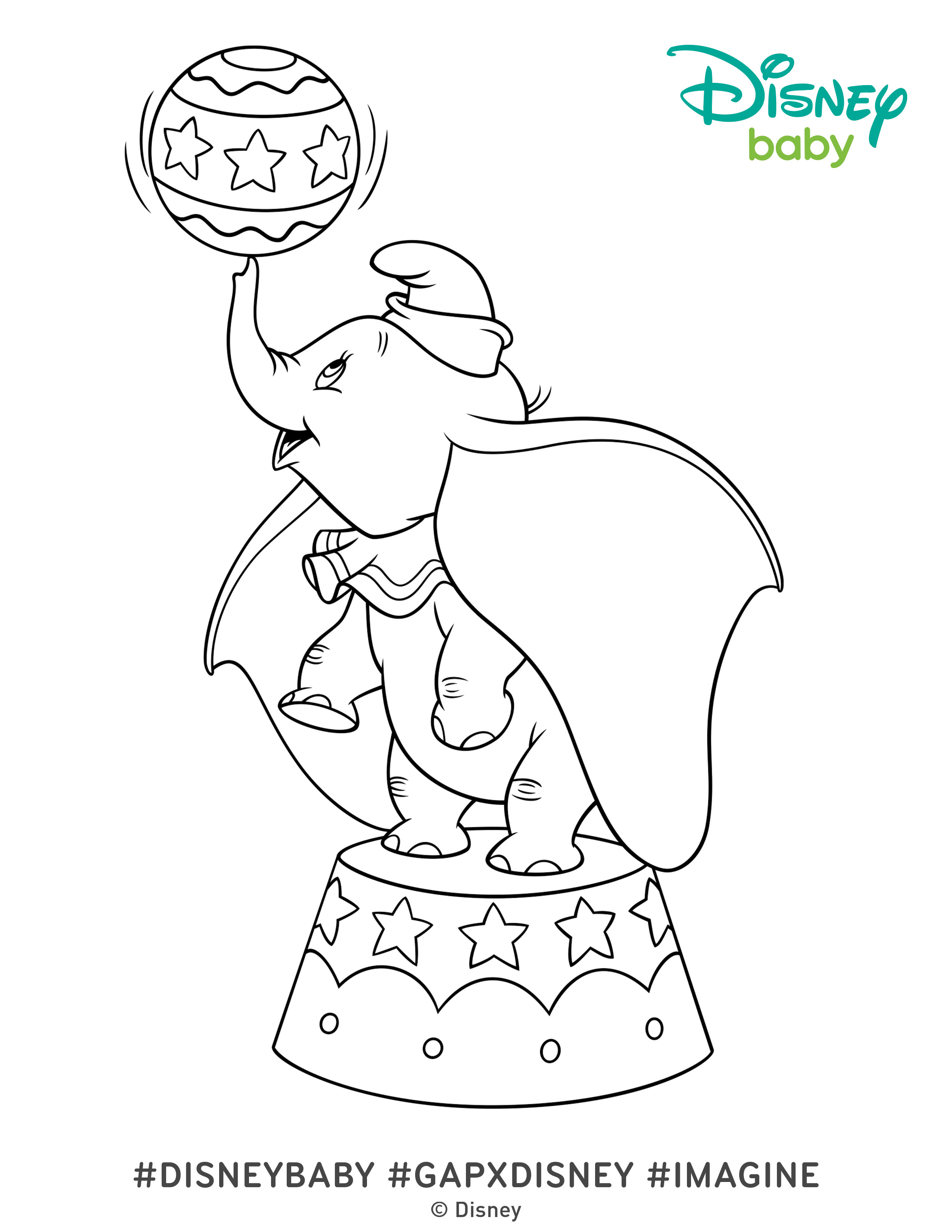 2550x3300 Dumbo Coloring Pages Cute Page Free Printable Disney