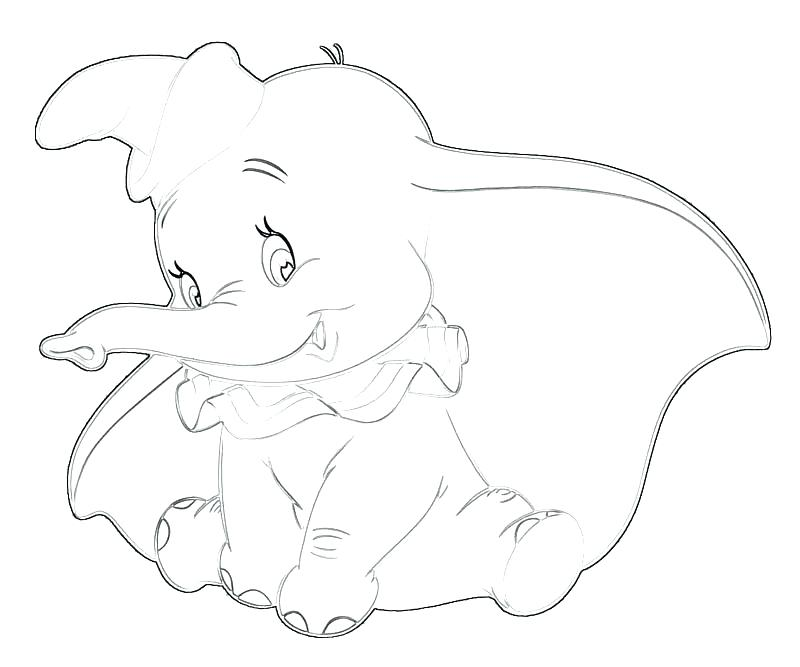 800x667 Dumbo Coloring Pages Dumbo Coloring Picture Dumbo Elephant