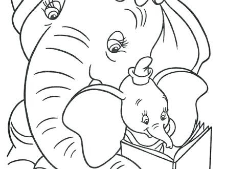 440x330 Dumbo Pictures To Color Dumbo The Elephant Coloring Pages Dumbo