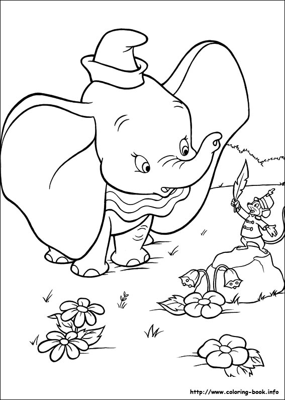 567x794 Dumbo Coloring Picture