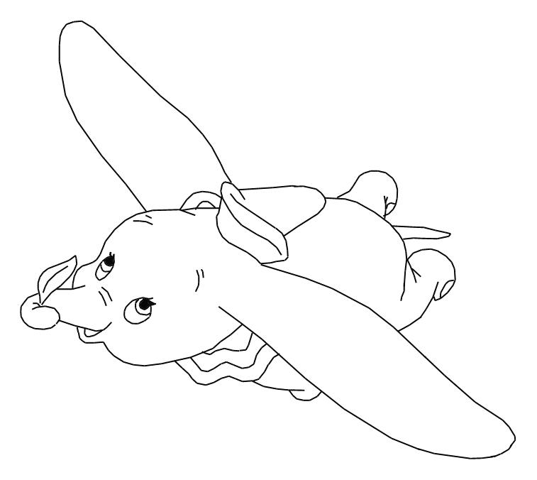757x676 Free Walt Disney Animal Dumbo Elephant Coloring Pages