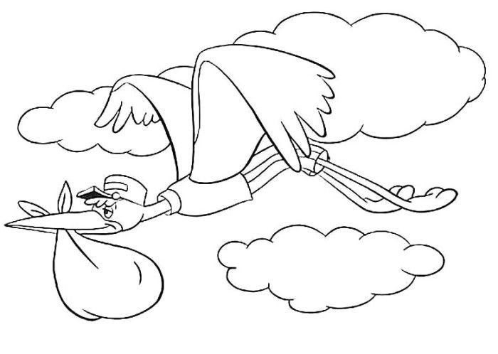 700x498 The Bird Friends Of Dumbo Coloring Pages