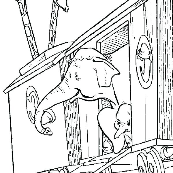 600x600 Dumbo Coloring Page Dumbo Coloring Book Circus Train Coloring