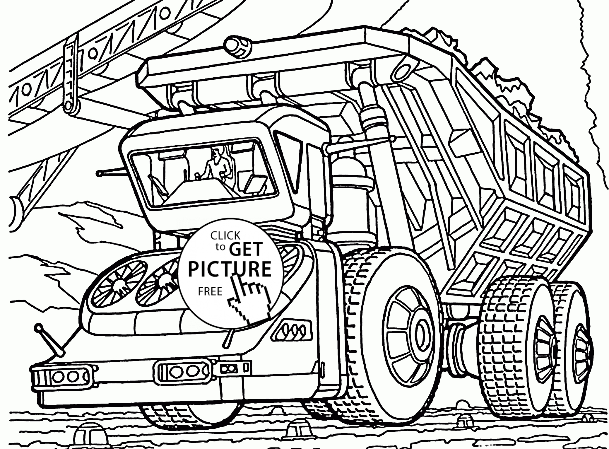 Dump Truck Drawing at GetDrawings | Free download