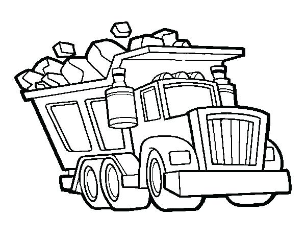 600x470 Dump Truck Coloring Pages Free Printable Dump Truck Coloring Page