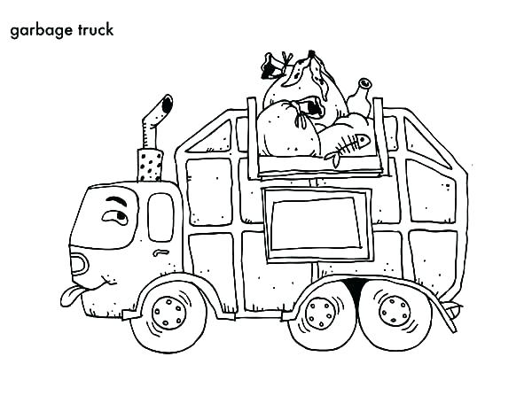 600x464 Garbage Truck Coloring Page Trash Truck Coloring Pages Garbage