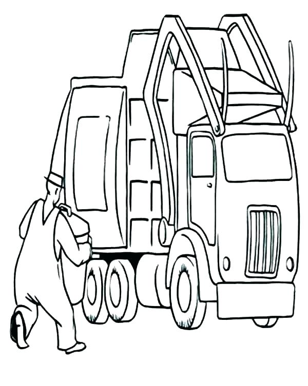 600x753 Trash Truck Coloring Pages Trash Truck Coloring Page Trash Truck