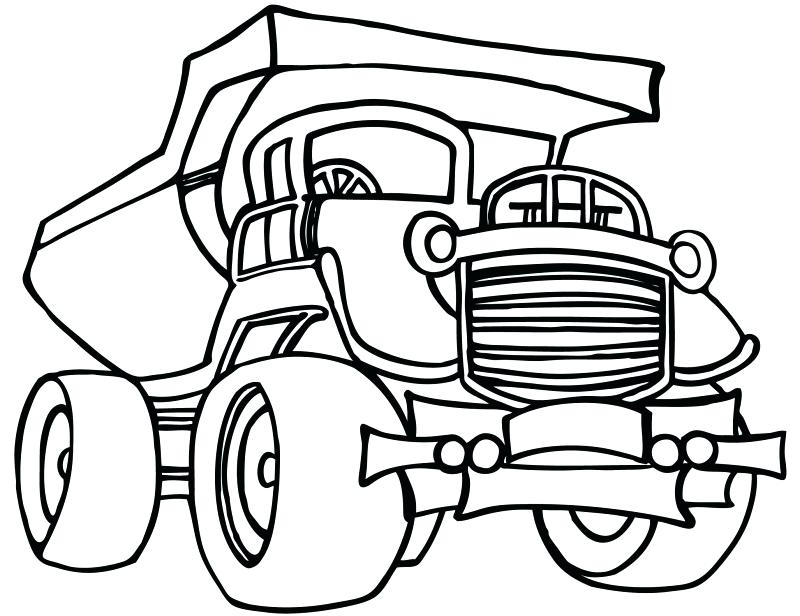 800x616 Dump Truck Coloring Pages Construction Free Printable Dump Truck