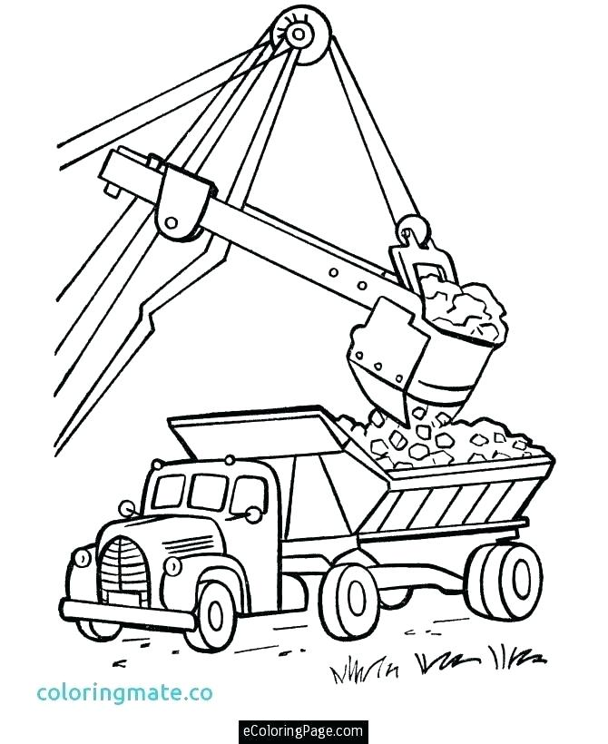 670x820 Dump Truck Coloring Pages Peterbilt Dump Truck Coloring Pages