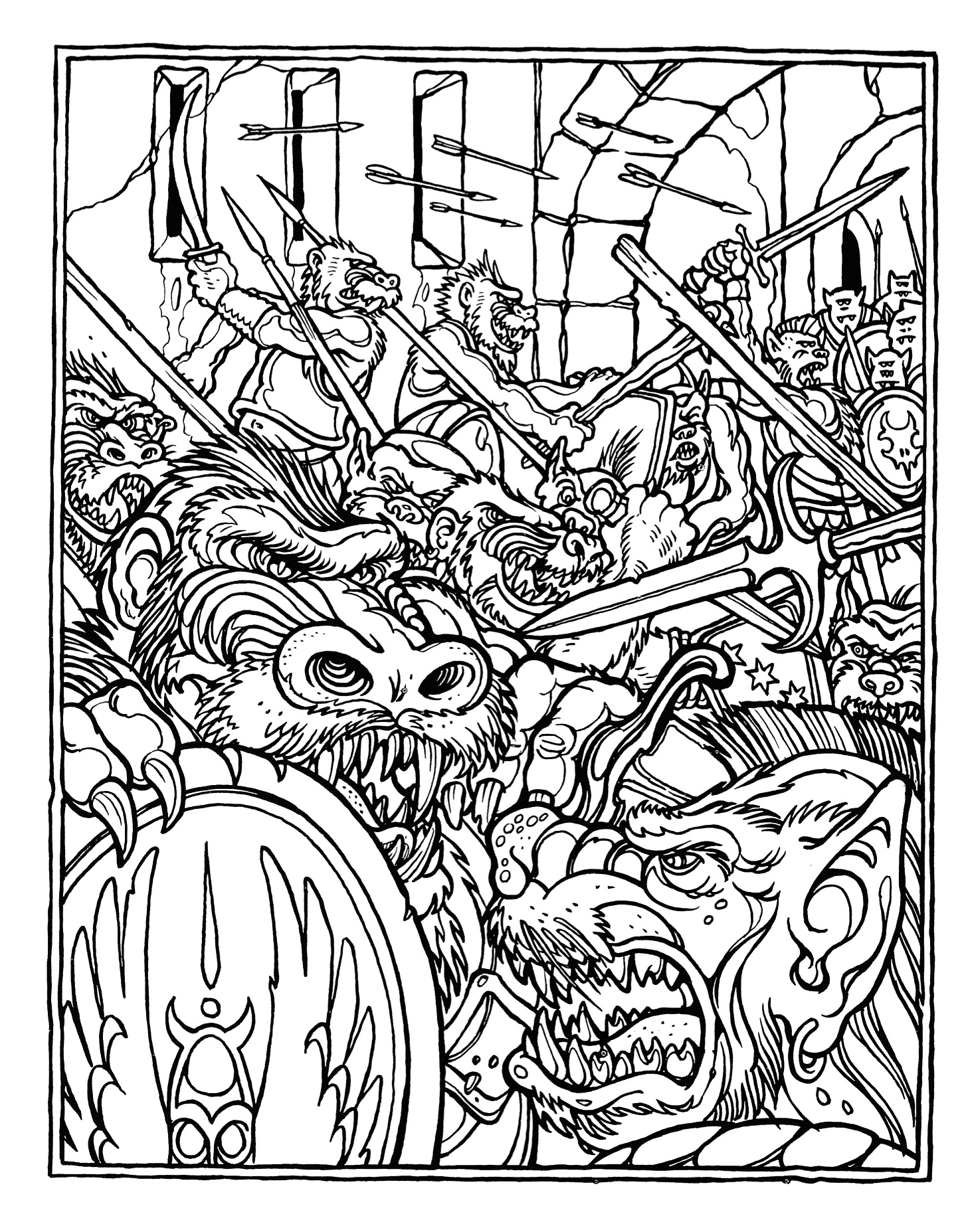 1451x1855 Monster Brains The Official Advanced Dungeons And Dragons
