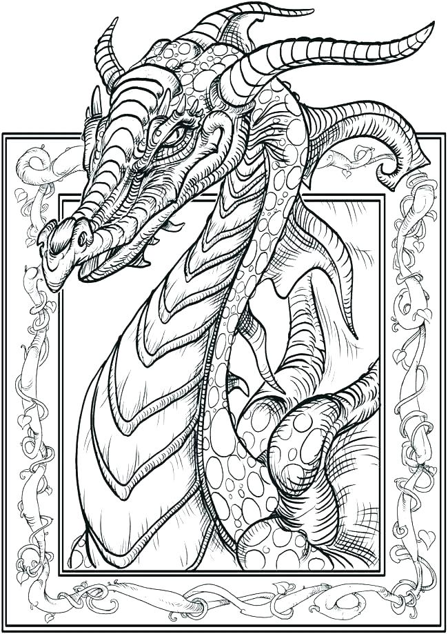 650x919 Real Dragon Coloring Pages Real Dragon Coloring Pages Dragon