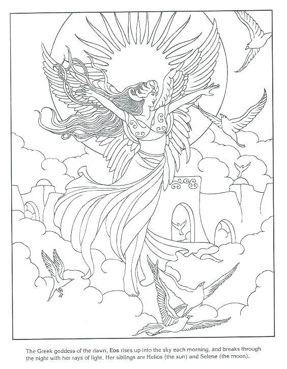 564x724 Goddess Coloring Pages Goddess Coloring Pages Goddess Pages