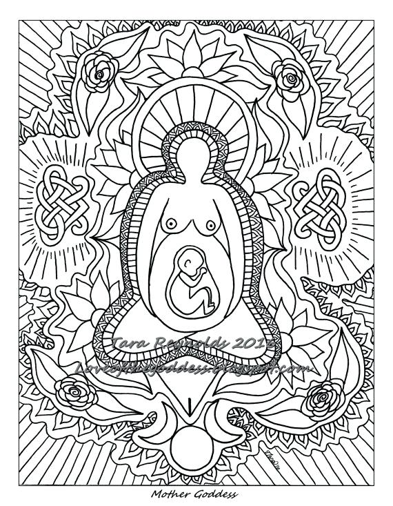 570x733 Goddess Coloring Pages Goddesses Coloring Pages The Goddess