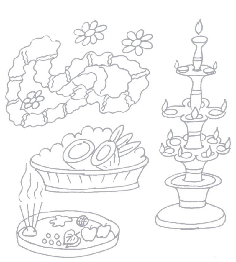 800x888 Diwali Coloring Pages