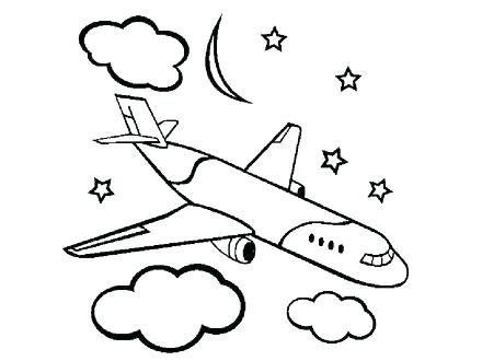 440x330 Plane Coloring Airplane Coloring Page Printable Toy Plane