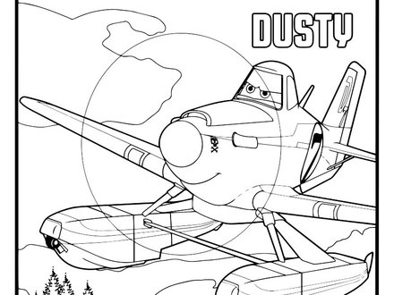 Dusty Crophopper Coloring Pages