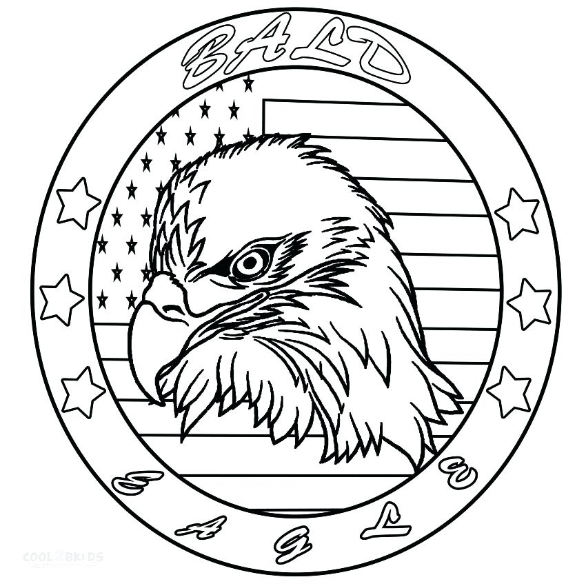 850x850 Bald Eagle Coloring Page Bald Eagle Head Coloring Pages Coloring