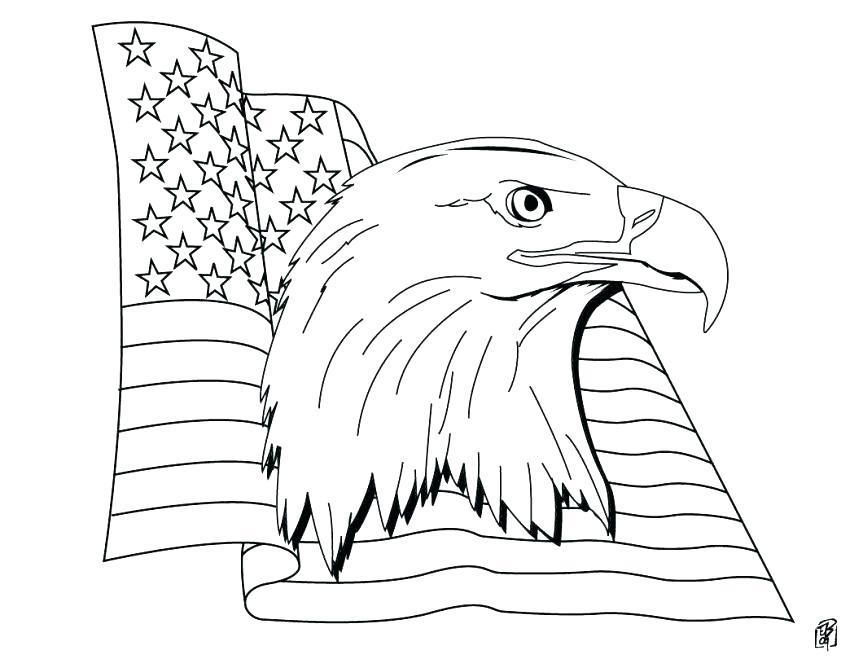 863x668 Eagle Coloring Page Harpy Eagle Coloring Page Free Patriotic Flag