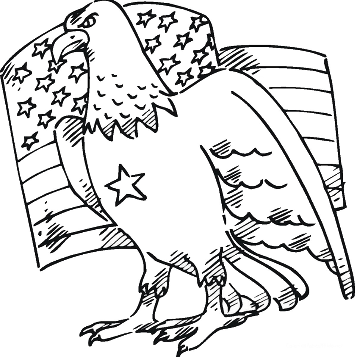 1200x1200 Eagle Coloring Pages