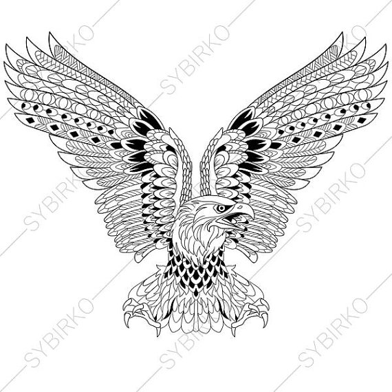 570x570 Eagle Independence Day Symbol Coloring Pages For Of July