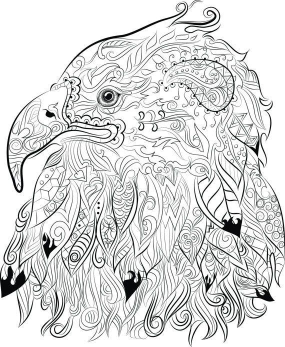 570x694 Eagles Coloring Pages Best Chandraws Mind Escape Images