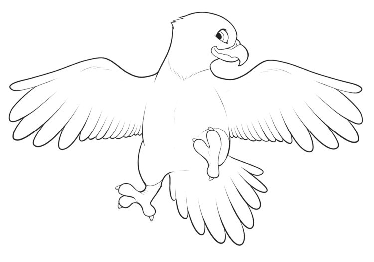 750x526 Eagle Drawing For Kids Free Coloring Pages